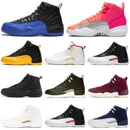 pattini di pallacanestro del coniglietto degli insetti Sconti nike air jordan retro aj12 Game Royal 12 12s uomini scarpe da basket FIBA University Gold Midnight Black HOT PUNCH TAXI trainer per uomo Sneakers sportive 7-13