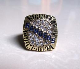 Rangers stanley cup online-Defectuosos 1994 New York Rangers anillo de campeonato de hockey Stanley Cup (Messier)