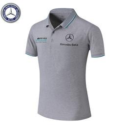 2019 auto gedruckte t-shirts 2019 Auto-Logo T-Shirt 02 Auto F1 Mode neues freies Verschiffen T-Shirt Mercedes-AMG Logo Auto Weise gedruckt T-Shirt alle Größen rabatt auto gedruckte t-shirts