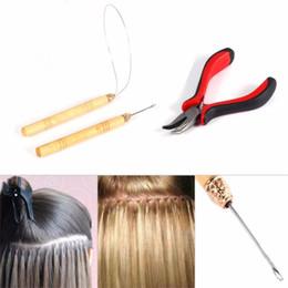 Набор для наращивания микрокольцевых колец онлайн-3 в 1 перо наращивание волос наборы инструментов плоскогубцы петля крюк иглы для микро кольца бусины расширения