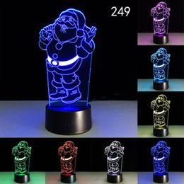 cadeaux décoratifs de bureau Promotion 3D Acrylique LED Veilleuse Bienheureuse Vierge Marie Touch 7 Couleur Changeante Lampe De Table De Bureau Parti Lumière Décorative Cadeau De Noël