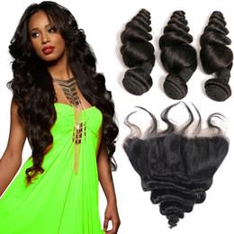 2020 bündel binden Msjoli Brasilianisches Haar Lose Wellenbündel mit Frontal Malaysian Virgin Hair Handgebundener Spitze Frontal Unverarbeitete Nagelhaut Ausgerichtet Reines Haar günstig bündel binden