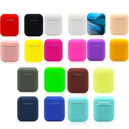 Airpods için Kulaklık Silikon Kılıf Koruyucu Kapak bağlantı kablosu iphone Hava pod Bluetooth Kablosuz Kulaklık Kılıfları hava bakla 19 Renkler nereden