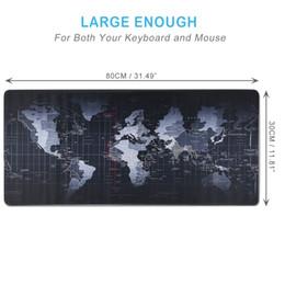 Коврик для мыши Extended XXL Gaming Mouse - портативный большой настольный коврик с противоскользящей резиновой основой, карта мира, коврик для игровой клавиатуры. L от