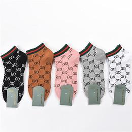 Argentina 19ss calcetines deportivos explosiones de algodón letras GG impresión marea marca señoras calcetines de barco sección delgada de algodón japonés calcetines de las mujeres Suministro
