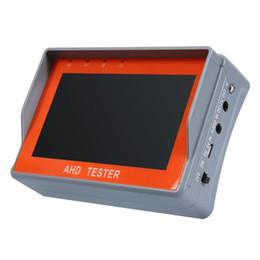 ahd tester Rebajas 4,3 pulgadas de alta definición AHD CCTV Tester Prueba de la salida del monitor AHD 1080P cámara PTZ Cable UTP probador 12V1A