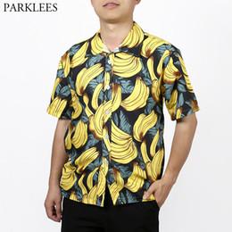 336ba0f4 3D Banana Funny 3D Print Hawaiian Shirt Men 2019 Summer Short Sleeve 5XL  Tropical Aloha Shirts Mens Holiday Vacation Clothing discount aloha shirts