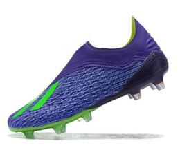 Carregadores de futebol on-line-Bom preço Sapatilhas X18.1 Tricô Copa Do Mundo À Prova D 'Água FG tênis de treinamento de futebol, X18 malha FG cravejado cleated botas de futebol sapatos