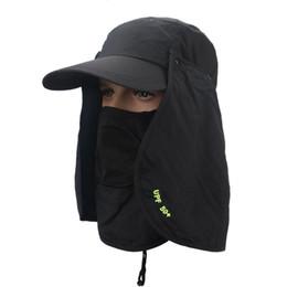 caminhadas chapéus Desconto Pesca Caminhadas Sóis Anti UV Cap Headband Proteção Rosto Pescoço Flap Sun Rain Cap Hat