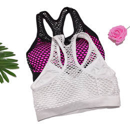 34b sport bh größe online-Mode reizvolle hohle Schönheit zurück Sport-BH Stoß- Versammlung Fitness Yoga Unterwäsche Frauen Bras Schwarz Weiß 34B-38B Größe