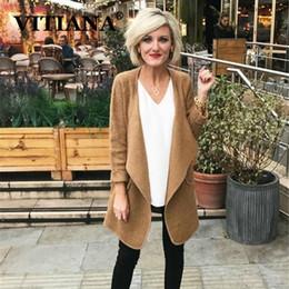 Vêtements de travail d'hiver pour femmes en Ligne-VITIANA Femmes Casual Manteaux Automne Hiver 2019 Femme À Manches Longues Bureau De Travail Longs Manteaux Femmes Élégant Streetwear Vêtements