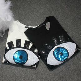 Argentina Harajuku Camiseta de Lentejuelas Mujeres 2019 Diseño de Moda de Manga Corta Pestaña de Algodón camiseta Mujer Tops de Verano Más Tamaño S-3xl 4xl cheap top eyelashes Suministro