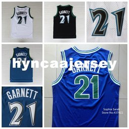 50add7189 Kevin Garnett Jersey,#21 Kevin Garnett White Blue Black Retro Vintage Retro  Basketball Jerseys,Embroidery Lgos Ncaa. Supplier: hyncaajersey