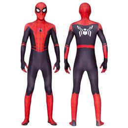 traje verde metalizado Rebajas 2019 Uniformes de Halloween superhéroe Spider-Man del traje delgado del partido de Cosplay Medias Ropa de impresión en 3D Spandex Juegos Spidey Cosplay