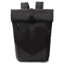 Mochila casual del adolescente bolsa Hombres Mujeres acampar Estudiantes Adultos mochilas para portátiles a prueba de agua al aire libre Viaje Bolsas Negro desde fabricantes