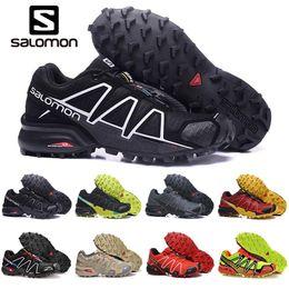 Zapatos impermeables para correr online-2019 Salomon Speedcross 3s 4s CS Zapatillas de running para hombre Speed cross zapatillas para hombre al aire libre Zapatillas deportivas deportivas impermeables para correr