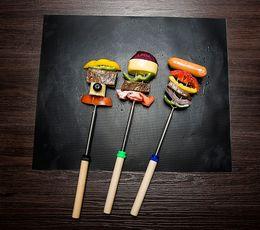 Stuoie per barbecue online-Nuovo arrivo Portable Picnic Outdoor Cooking Tool Barbecue 33 * 40cm antiaderente riutilizzabile BBQ Grill Mats Pad foglio di forno Meshes