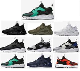 mens huarache chaussures Promotion 2019 Huarache 4.0 1.0 Classique Triple Blanc Noir Noir Chaussures de course pour hommes femmes Huaraches baskets de sport taille 36-45