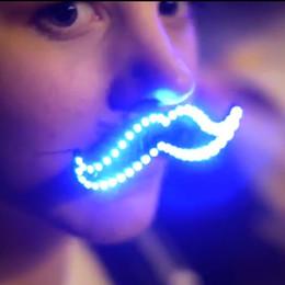 2019 accesorios para bigotes LED Glowing Barba Bigote Resplandor luminoso Cosplay Light Festival Evento Glow Beards Juguetes Despedida de soltera Suministros para fiestas accesorios para bigotes baratos