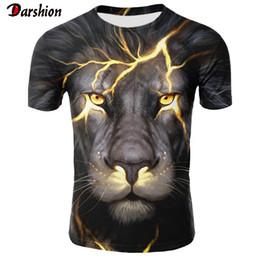 Одежда для мужчин панк онлайн-2019 Новый 3D Tshirt животных Лев рубашка Cool 3D T Shirt Мужчины Смешные футболки Мужская одежда Повседневная Фитнес TeeTop Punk Tshirt