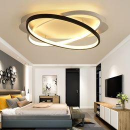 Acessórios de tecto on-line-Novos Anéis Criativos Modern Led Luz de Teto Para Sala de estar BedroomHome Interior Luminária de Teto LEVOU AC90V-260V