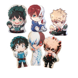 sale stuff toys Promo Codes - My Hero Academia Anime Boku No Hero Yoh Asakura Katsuki Bakugo Shoto Toooroki Dolls & Stuffed Toys Plush Girl Soft Gift Hot Sale