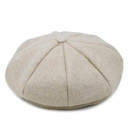Kagenmo All-Match Berretto femminile spessa tiene caldo berretto invernale di lana Gran Bretagna stile donna berretto casual primavera berretti da berretti rosa all'ingrosso fornitori