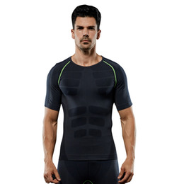 0120ad1877d Men s Sports Tops Tights Sports Short Sleeve Body sculpting clothing  Comfortable Breathable Seamless Sportswear Male Fitness t shirt