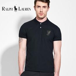 Tommy polo en Ligne-Nouveau 2019 marque tommy polo hommes chemise couleur unie manches courtes Slim Fit hommes chemises en coton, plus la taille S-3XL