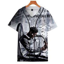 Mochilas de baseball unisex on-line-YoungBoy Nunca quebrou Baseball Novamente 3D Impresso camiseta manga curta Unisex Baseball Uniform Streetwear Hip Hop Baseball Jersey