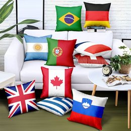 Argentina Personalizar Throw Pillow Cover National Flag Print Logo Marca Publicidad Regalo Sofá Silla de coche Fundas de colchón Desmontable Diseño libre cheap cushions covers designs Suministro