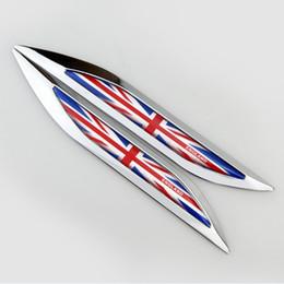 2019 logotipos para pára-brisa do carro bandeira 1pair 160x21mm Car Styling Zinc Alloy Car nova lâmina borda lateral etiqueta do emblema do emblema Mark Union Jack Reino Unido alta Qulity apto para Volvo