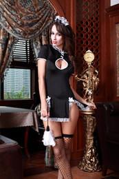 2019 горничная косплей платье лолита Сексуальное женское белье Косплей Французская горничная Слуга Лолита Сексуальный костюм платье Babydoll скидка горничная косплей платье лолита