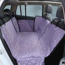 Perro de mascota cubierta de asiento de coche impermeable Oxford perro cubierta del asiento trasero Protector Gato perro de perro Hamaca 130 * 150 * 55 cm desde fabricantes