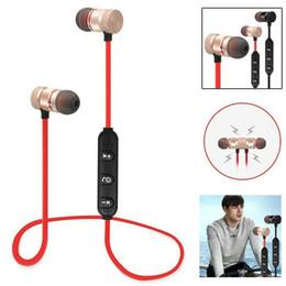 auriculares imán Rebajas Auriculares inalámbricos Bluetooth Auriculares estéreo con imán estéreo con auriculares MIC Auriculares para teléfonos inteligentes iPhone Android