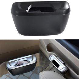 Supporto per carta auto online-Tipo Dewtreetali Mini Car Bidone della spazzatura Auto Rifiuti Pattumiera Scarti di polvere Porta astuccio di carta Contenitore per veicoli Organizzatore Ufficio Casa