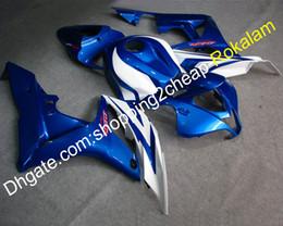2019 conjunto completo carenados Set de carenados completos para Honda CBR600RR F5 07 08 F5CBR600 600RR 2007 2008 Blue White Juego de accesorios para motocicletas Carenado (moldeo por inyección) conjunto completo carenados baratos