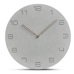 2019 disegni cerchio a parete Orologio da parete in marmo minimalista nordico Art Clock Ornament Restaurant Cafe Shop Circle Wall Design moderno Home Decor sconti disegni cerchio a parete