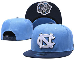 Logotipos bordados bonés on-line-Atacado NCAA North Carolina Tar Heels Caps ajustável Hip Chapéus snapbacks faculdade de moda transporte Hop Chapeaus bordado Logos gratuito