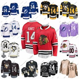 patches de hockey de la coupe stanley Promotion # 14 Chris Kunitz Chicago Blackhawks 2016 Stanley Cup Final Patch Tampa Bay Lightning all star d'hiver classique Centennial Patch Hockey Jersey