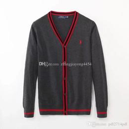 Maglione di mezza età online-Maglione con scollo a V, maglione sottile giacca papà, cardigan a mezza età con molla da uomo