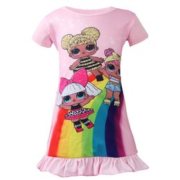Jumpsuit vestido on-line-Surpresa do bebê cosplay traje de Halloween para meninas vestido de festa infantil jumpsuit dos desenhos animados Surpresa boneca dos desenhos animados lol dress