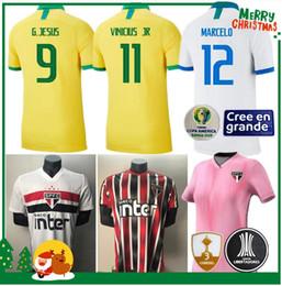 Copa de futbol online-2019 2020 Brasil Sao Paulo DANI ALVES casa del fútbol jerseys ausentes 19 20 Copa América Brasil hombre adulto mujer camisetas de COUTINHO VINICIUS