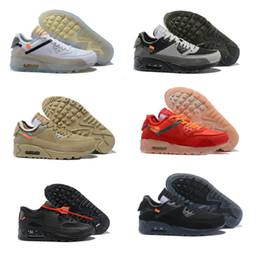 Virgil blanc cassé en Ligne-Hommes de haute qualité Femmes 90s Chaussures de course Virgil Designer Triple Black Black Air Red Off Off Baskets 90s Trains Sports Classic Sports Chaussures