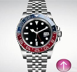 Mix relógios coloridos on-line-SRX8-Hot venda 2019 maravilhosa cor vermelha e azul misturado faixa preta Automático mecânico mens luxo relógio de pulso