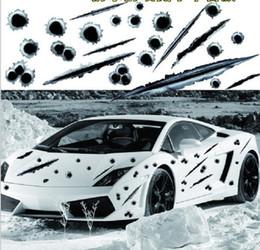2019 buracos de bala de carro Buraco de Bala 3D Adesivos de Carro Engraçado Risco Decalque Realista Buraco de Bala Adesivos À Prova D 'Água Do Carro Exterior Styling buracos de bala de carro barato