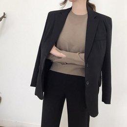 Veste vert foncé femme s en Ligne-Bureau Dark Green Lady Jacket Women cranté Col travail Top élégant formel Uniforme d'extérieur Feminino DF482 T191026