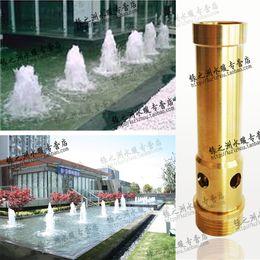 Fontes de cobre on-line-6fen material de Cobre bocal de tambor fonte cabeça de água apresenta bico de piscina