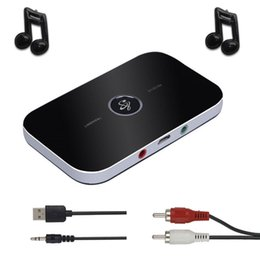2019 аудио выход приемника bluetooth B9 B6 Bluetooth передатчик приемник беспроводной аудио адаптер с 3,5 мм стерео выход поддержка для ПК ТВ MP3-плеер iPod дешево аудио выход приемника bluetooth