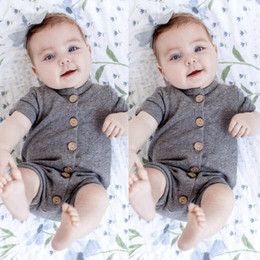 infant baby overall Promo Codes - Newborn Infant Baby Boys Girls Romper Bodysuit Jumpsuit Outfits Overalls Clothes